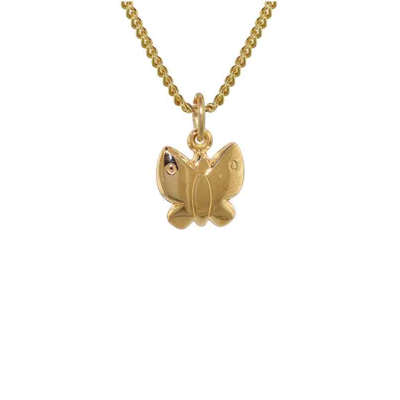 trendor 61016 Kinder Anhänger Schmetterling Gold 333 mit goldplattierter Kette 4260227761016
