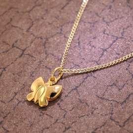 trendor 61016 Kinder Anhänger Schmetterling Gold 333 mit goldplattierter Kette