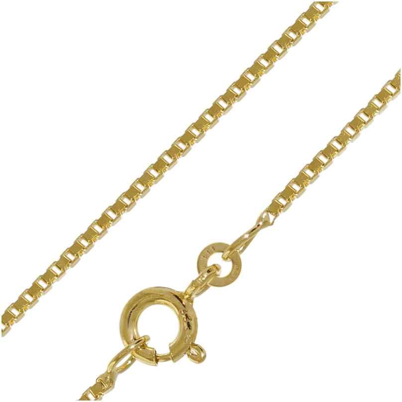 trendor 41635 Halskette 333 Gold Venezia für Damen und Herren, Breite 1,2 mm