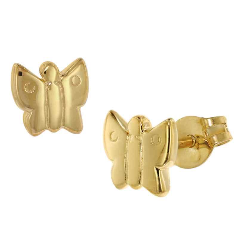 trendor 48634 Ohrringe für Kinder Gold 333 Schmetterling 4260143748634