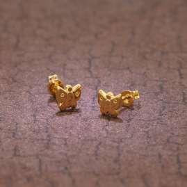 trendor 48634 Kids Earrings Butterfly Gold 333 / 8 K