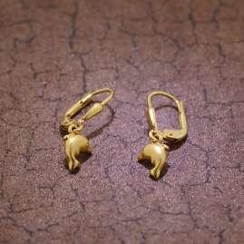 trendor 60941 Gold Girls Earrings Dolphin