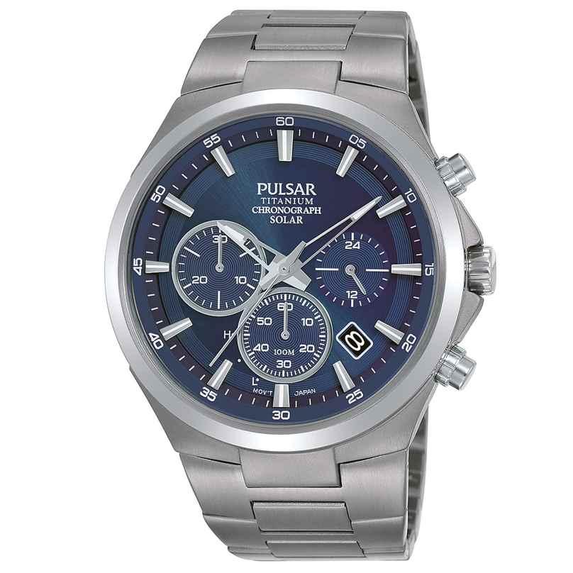 Pulsar PZ5095X1 Herrenuhr Titan Solar Chronograph 4894138039188