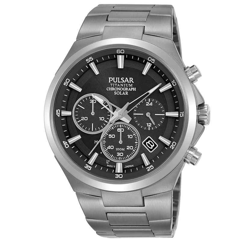 Pulsar PZ5097X1 Herrenuhr Titan Solar Chronograph 4894138038952