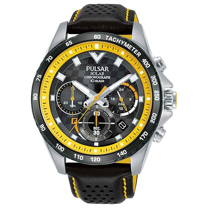Pulsar PZ5115X1 Rally Herrenuhr Solar-Chronograph Schwarz/Gelb 4894138041532