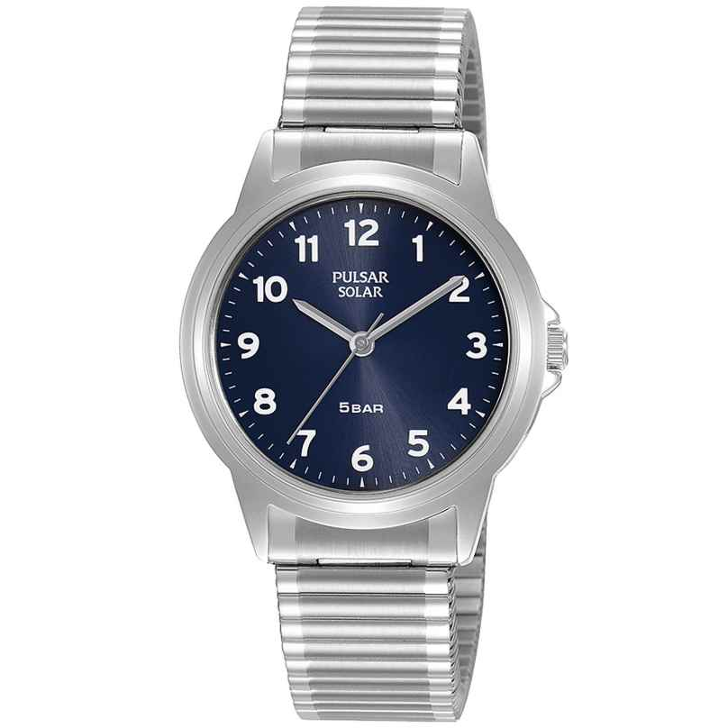 Pulsar PY5077X1 Solar Ladies' Watch with Flex Bracelet Blue 4894138040375