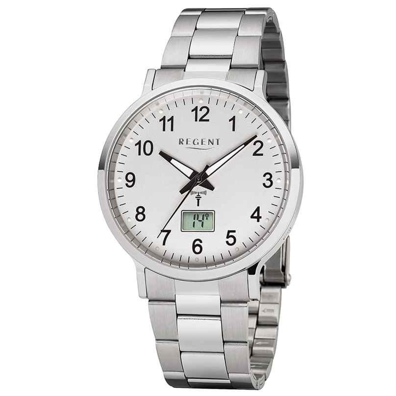 Regent FR-248 Men's Radio-Controlled Watch Steel Bracelet Ø 40 mm 4050597186188