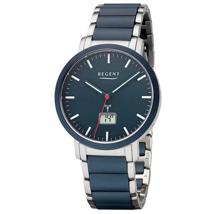 Regent FR-254 Radio-Controlled Men's Watch Stainless Steel / Ceramic Ø 40 mm 4050597189400