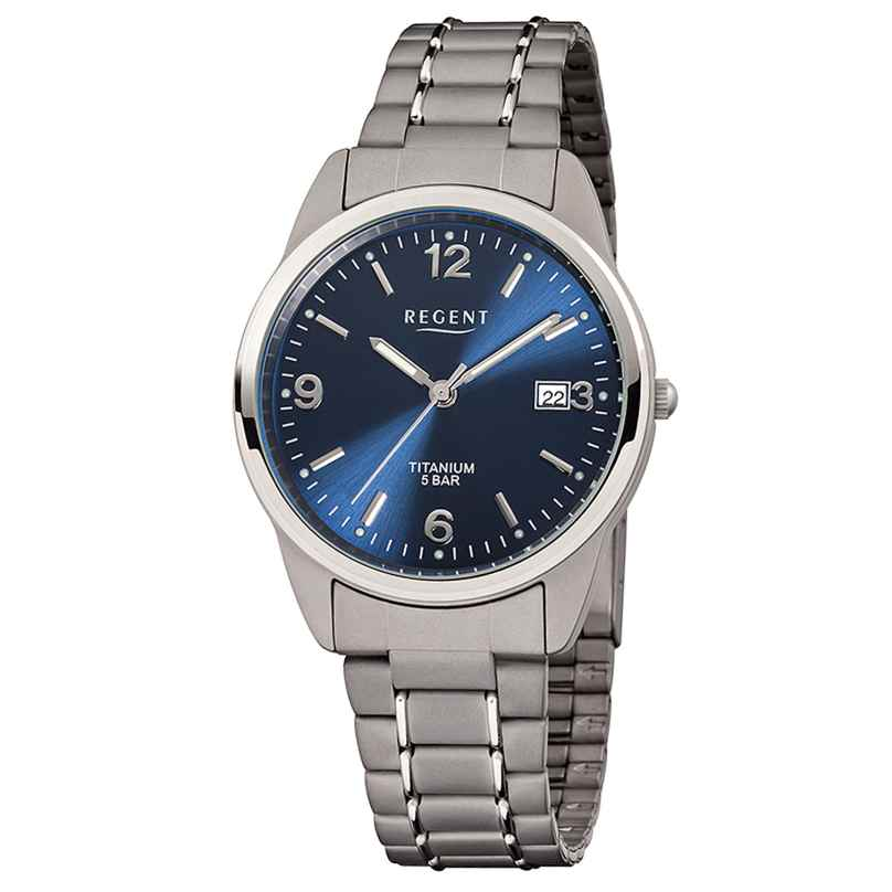 Regent F-433 Herren-Armbanduhr Titan Ø 36 mm 4045346059455