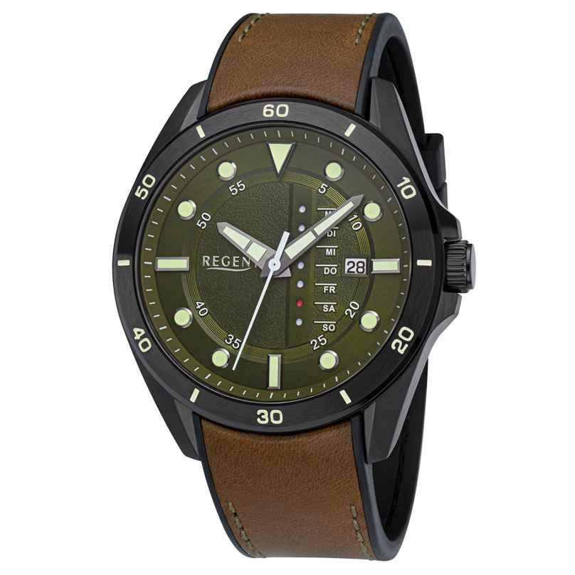 Regent BA-637 Men's Wristwatch WR 10 Bar Ø 44 mm 4050597901576