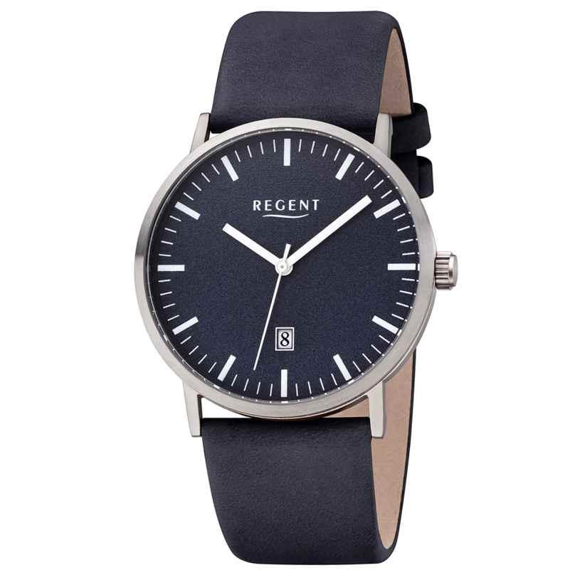 Regent F-1233 Men's Watch Titanium Blue Leather Strap Ø 39 mm 4050597190772