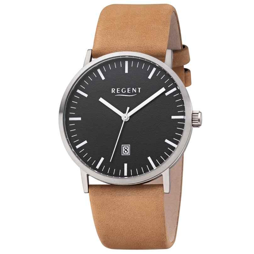 Regent F-1232 Men's Watch Titanium Brown Leather Strap Ø 39 mm 4050597190765