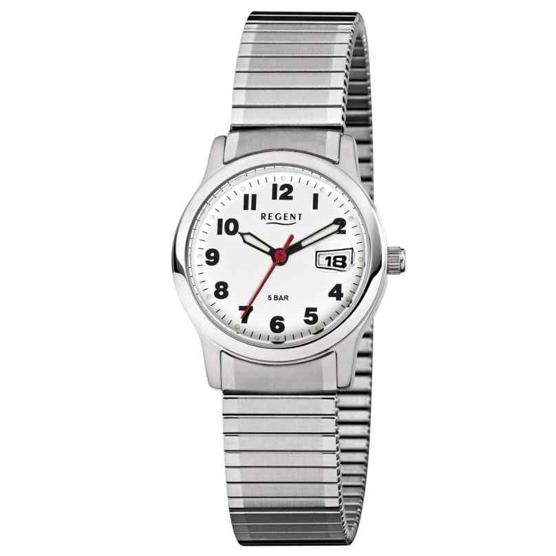 Regent F-897 Armbanduhr mit Zugband Edelstahl Ø 37 mm 4045346088745