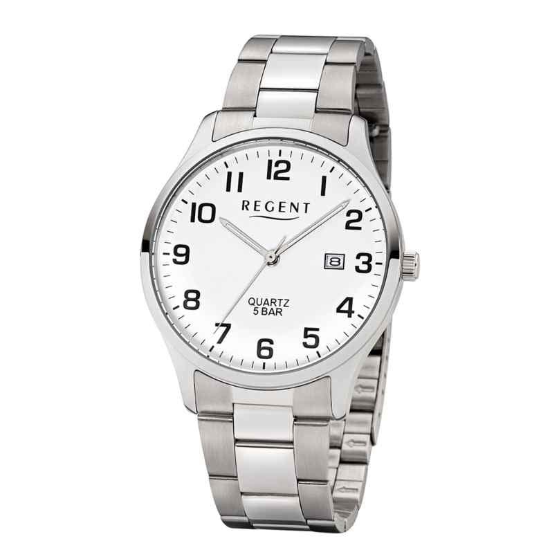 Regent F-1178 Herren-Armbanduhr mit Stahlband Weiß 4050597186300