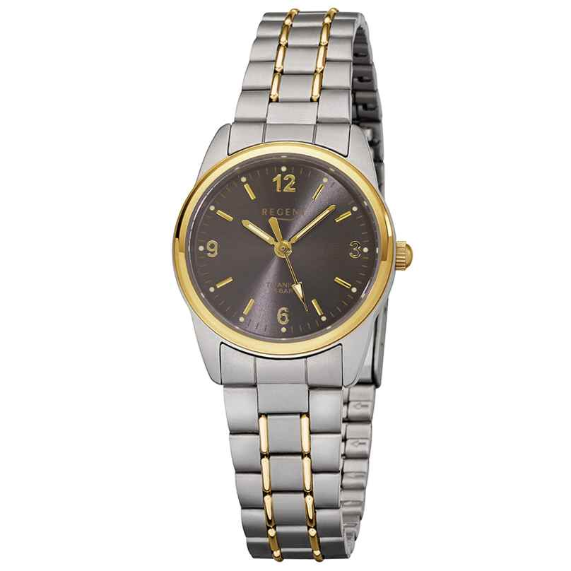 Regent F-429 Ladies' Wristwatch Titanium Two-Colour Ø 26 mm 4045346053453