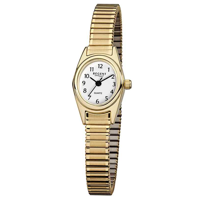 Regent F-263 Ladies' Watch with Elastic Bracelet Gold-Plated 4045346024170
