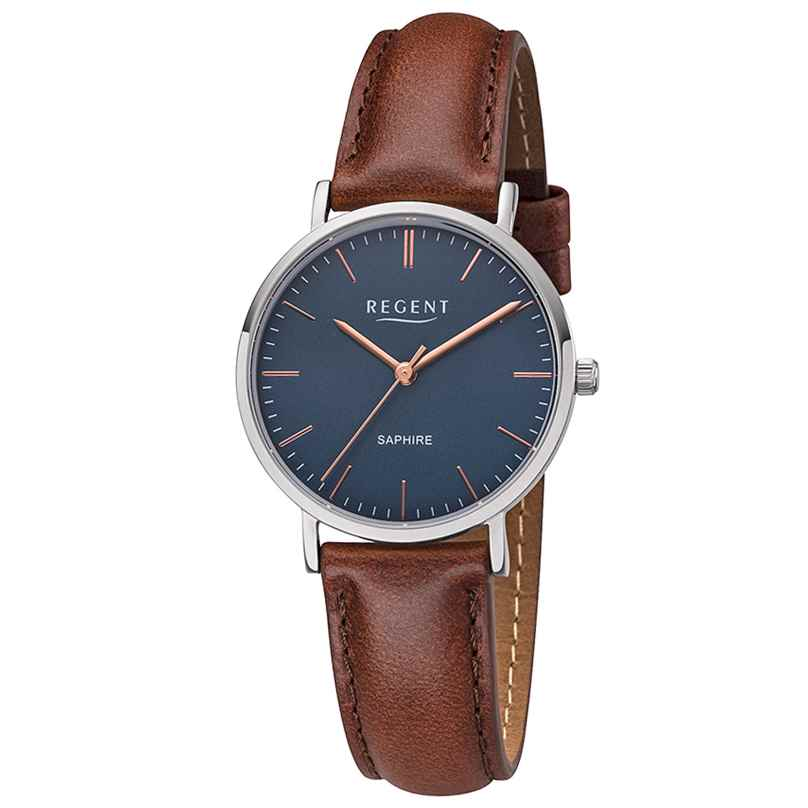 Regent F1216 Ladies' Watch with Leather Strap 4050597189073