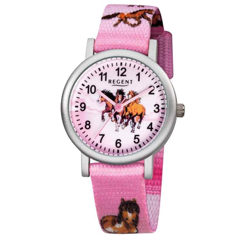 Regent F-729 Kids Watch for Girls Horses Pink Ø 30 mm 4045346075981