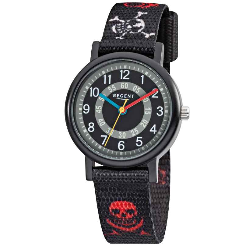 Regent F950 Aluminium Kids Watch Textile Strap Pirate 4045346089193