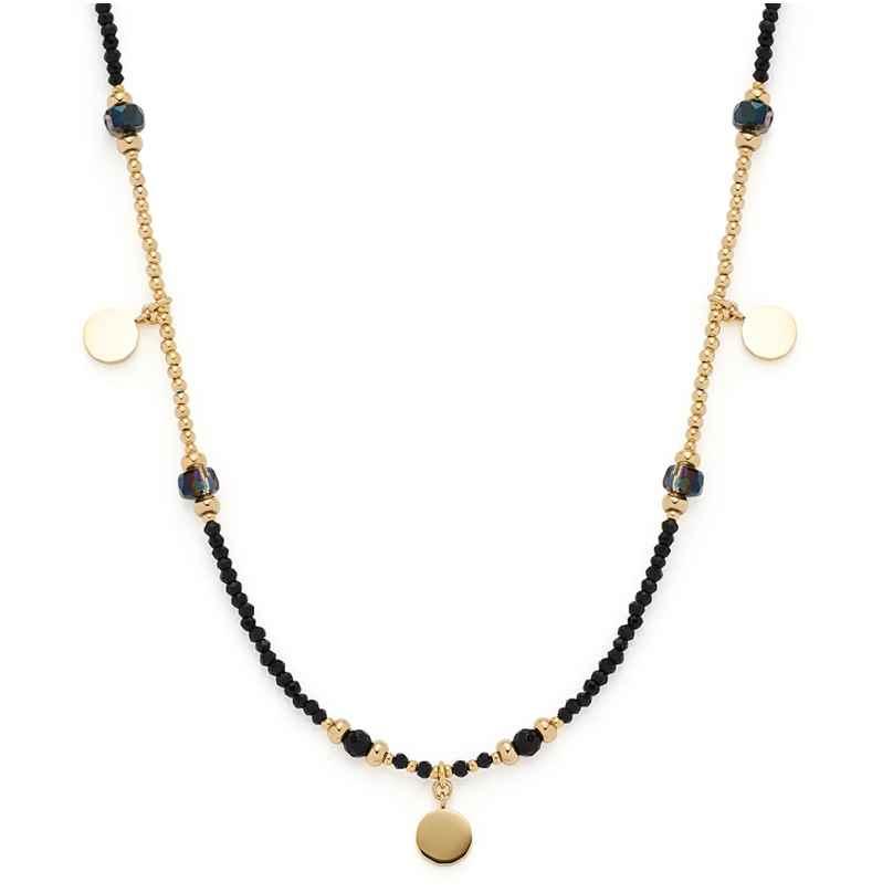 Leonardo 018304 Damen-Halskette Cesira Edelstahl schwarz/gold 4002541183040