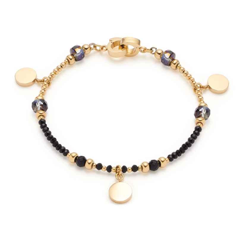 Leonardo 018305 Damen-Armband Cesira Edelstahl schwarz/gold 4002541183057