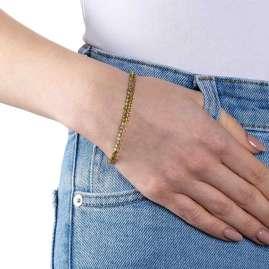 Leonardo 019696 Damen-Armband Maila Edelstahl Goldfarben
