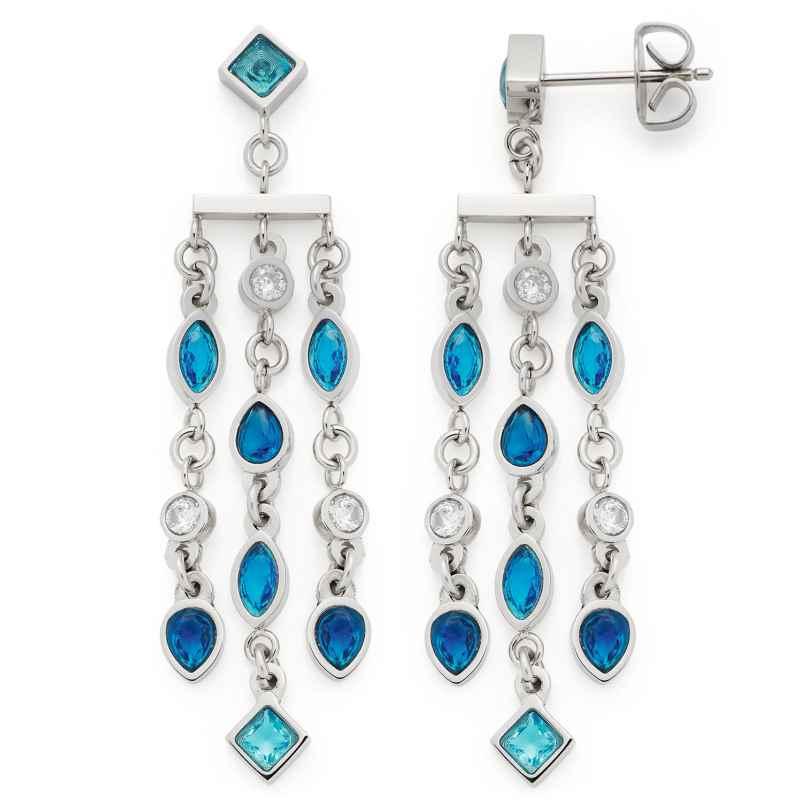 Leonardo 018384 Damen-Ohrringe Ohrhänger Arabella Edelstahl Blau 4002541183842