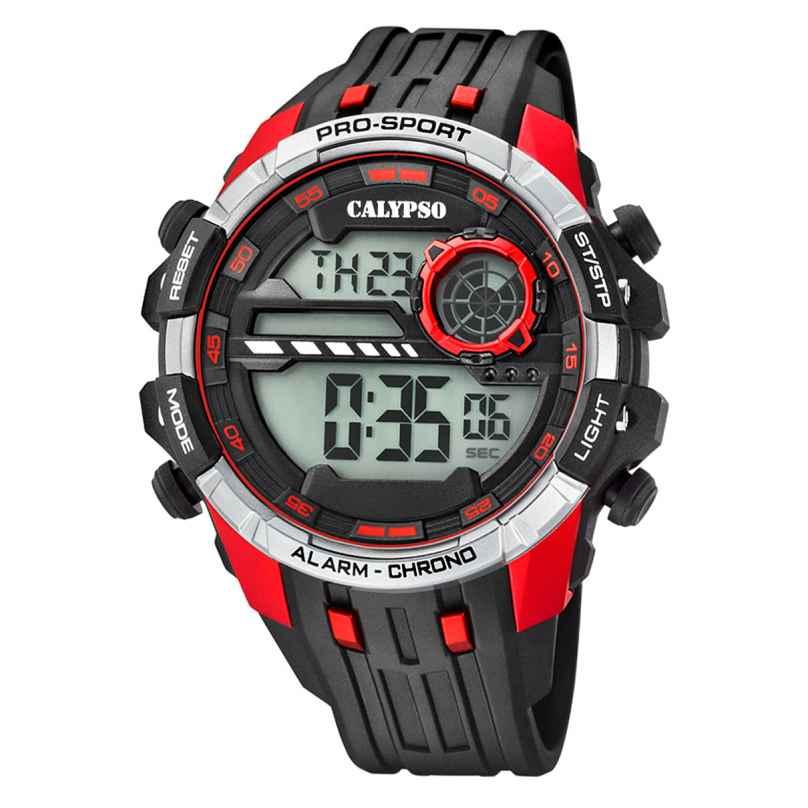 Calypso K5729/4 Digital Chronograph Mens Watch Black/Red 8430622676390