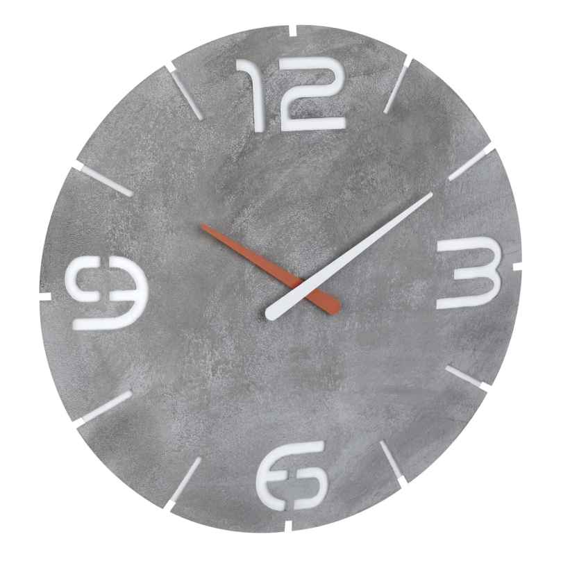 TFA 60.3536.15 Radio-Controlled Wall Clock Contour Concrete Look 4009816034670