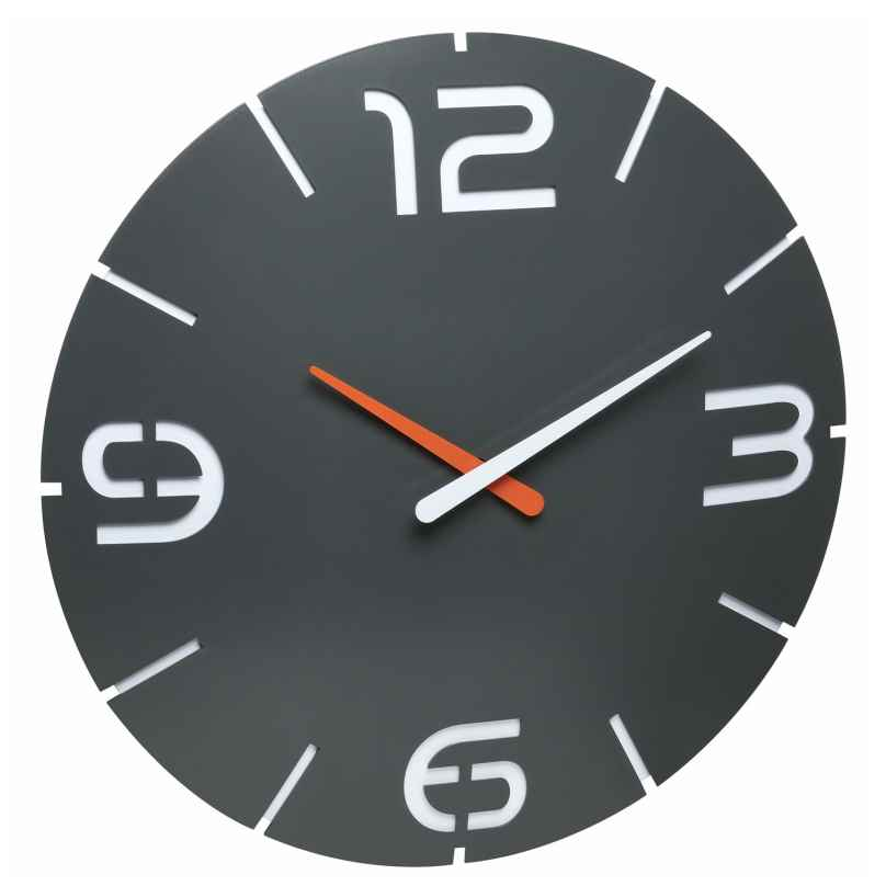 TFA 60.3536.10 Radio-Controlled Wall Clock Contour Anthracite 4009816032423