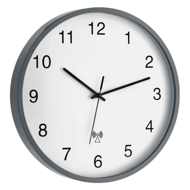 TFA 60.3511.10 Radio-Controlled Wall Clock Grey/White 4009816024381