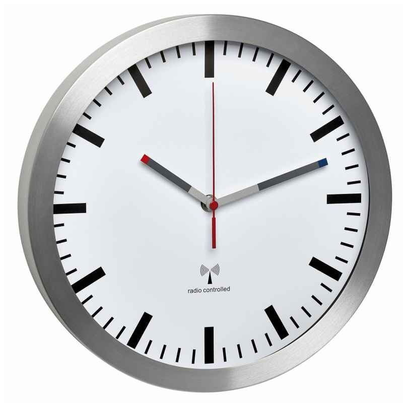 TFA 60.3528.02 Radio-Controlled Wall Clock with Silent Movement 4009816029744