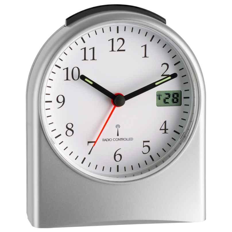 TFA 98.1040.54 Radio-Controlled Alarm Clock Silver 4009816014016