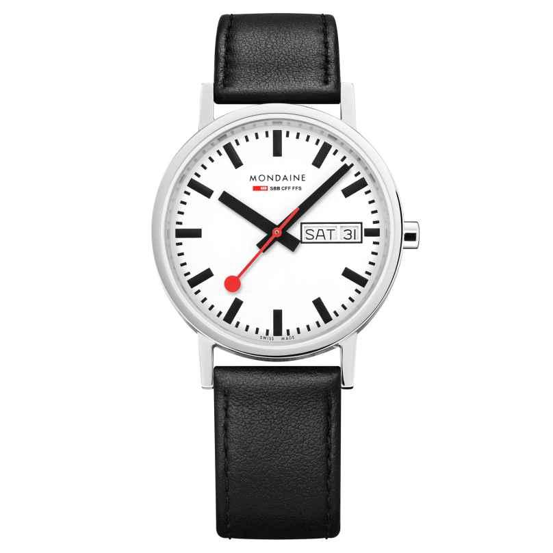 Mondaine A667.30314.11SBB Unisex Armbanduhr Weiß/Schwarz Classic 7611382558862