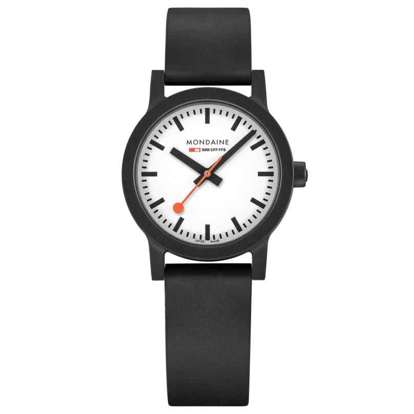 Mondaine MS1.32110.RB Damen-Armbanduhr Essence Weiß/Schwarz 7630040922494