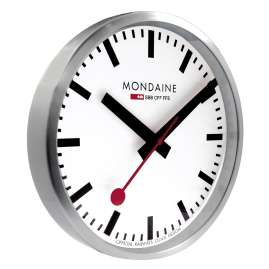 Mondaine A990.CLOCK.16SBB Wall Clock Quartz 25 cm Silver Tone