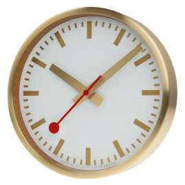 Mondaine A990.CLOCK.17SBG Wall Clock Quartz 25 cm Gold Tone