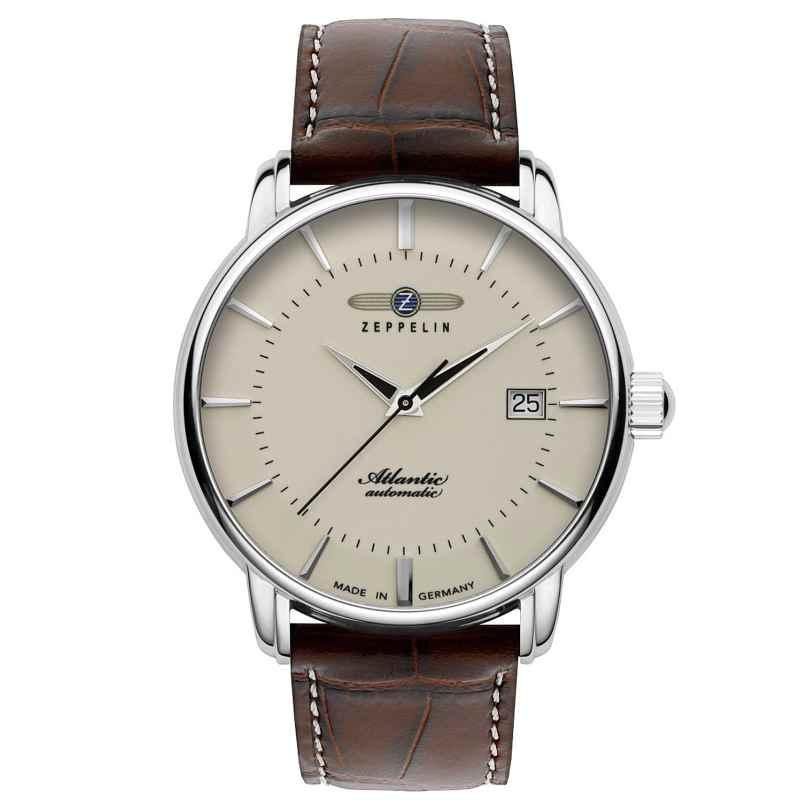 Zeppelin 8452-5 Automatic Men's Watch Atlantic Swiss Brown Leather Strap 4041338845259