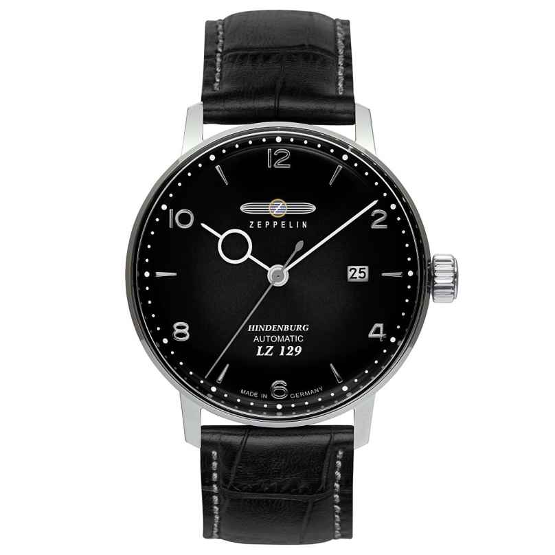 Zeppelin 8062-2 Men's Watch Automatic LZ129 Hindenburg with Black Leather Strap 4041338806229