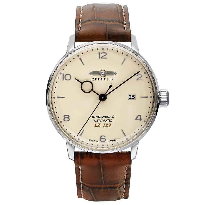 Zeppelin 8062-5 Men's Automatic Watch LZ129 Hindenburg Brown Leather Strap 4041338806250