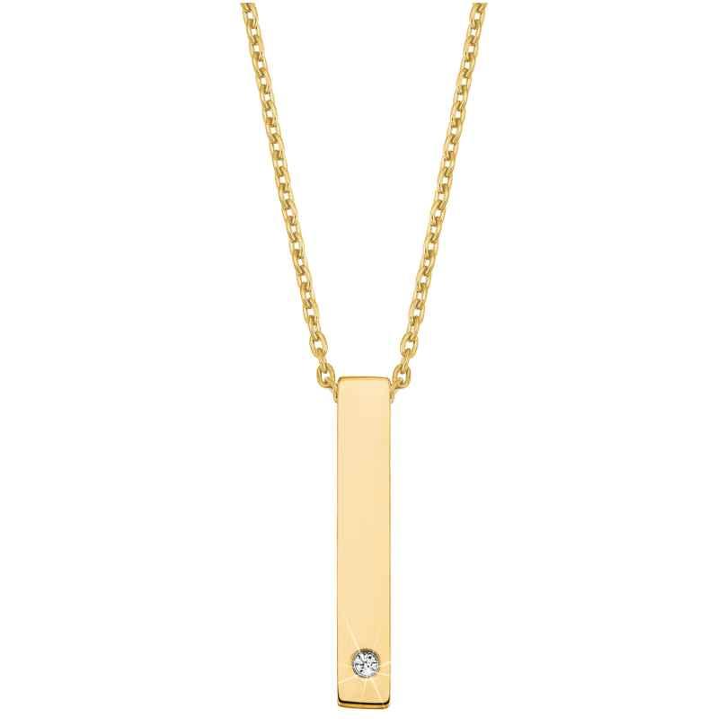 s.Oliver 2028472 Damen-Halskette mit Anhänger Edelstahl gold plattiert 4056867023658
