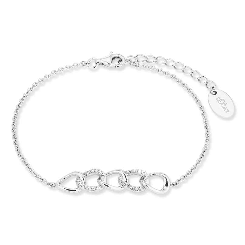 s.Oliver 2028498 Damen-Armband Silber mit Zirkonias 4056867023795