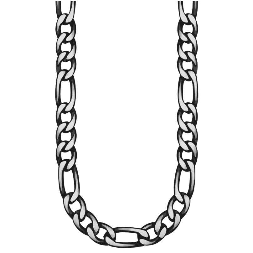 s.Oliver 2028441 Men's Necklace Blackened Stainless Steel 4056867023412