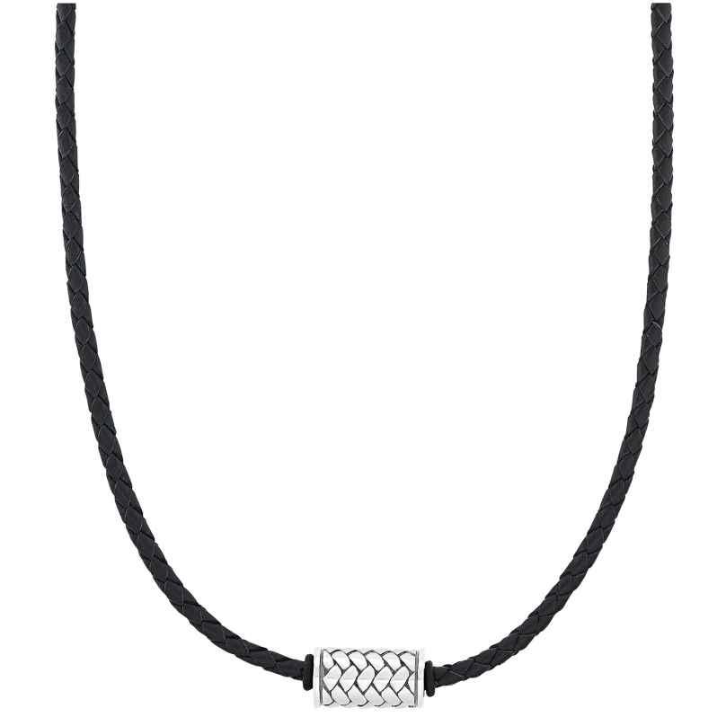 s.Oliver 2031537 Damen-Halskette Leder Schwarz 4056867028554