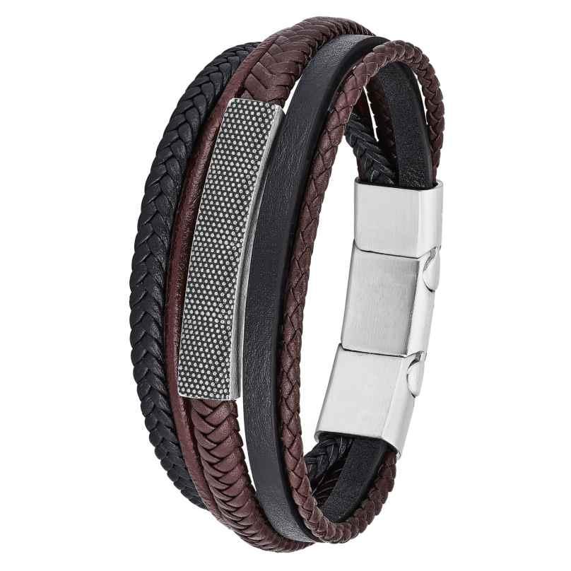s.Oliver 2026110 Leder-Armband für Herren 4056867017299