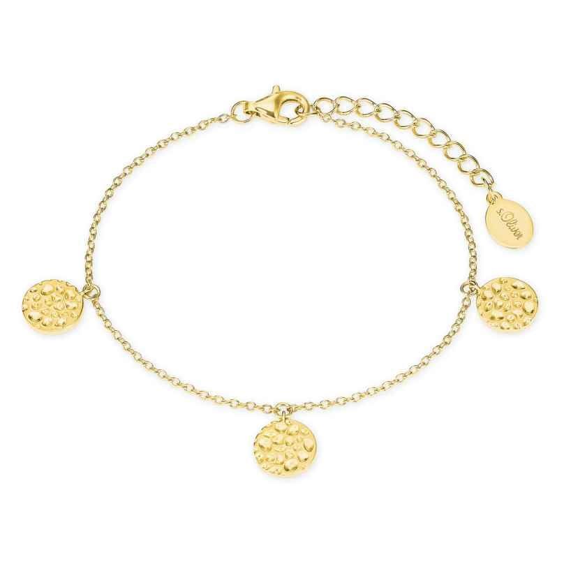 s.Oliver 2027552 Damen-Armband Silber vergoldet 4056867020558