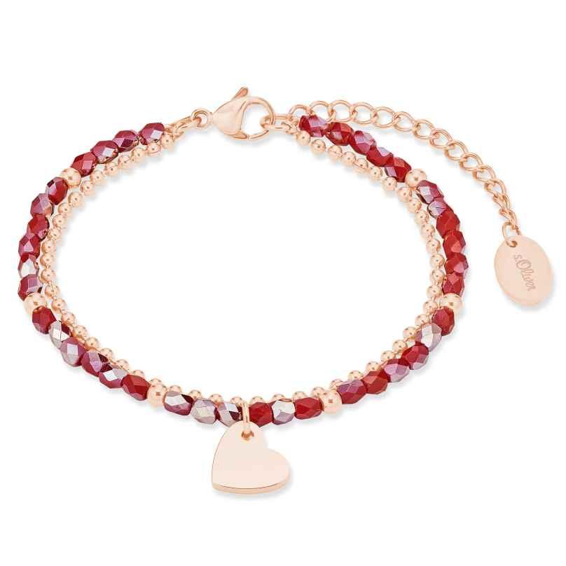 s.Oliver 2028478 Damen-Armband Edelstahl roségold plattiert 4056867023719