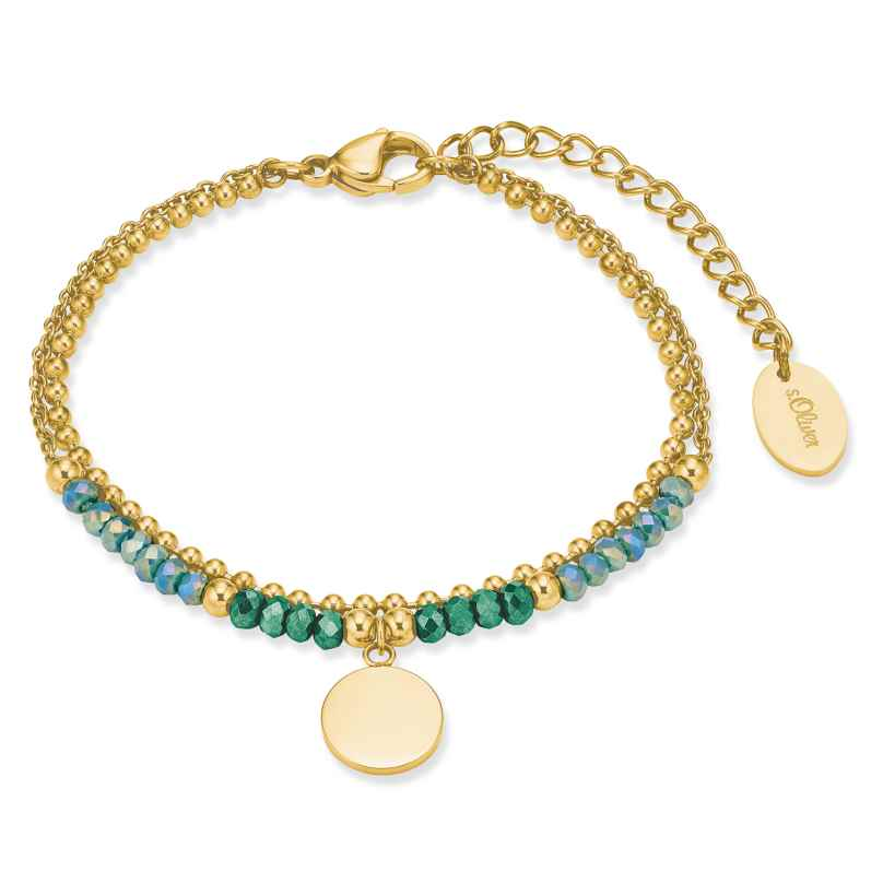 s.Oliver 2028479 Damen-Armband Edelstahl gold plattiert 4056867023726