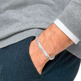 s.Oliver 2031557 Herren-Armband Edelstahl Kreuz