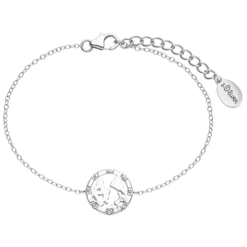 s.Oliver 2025615 Damen-Armband Weltkugel Silber 4056867016469